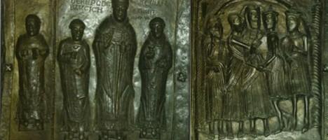 Dwa kasetony drzwi Katedry Płockiej