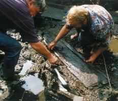 Eksploracja deski burty łodzi